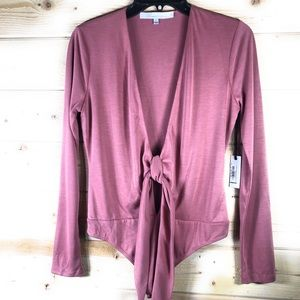 NWT Lovers + Friends Ryder Bodysuit in Mauve